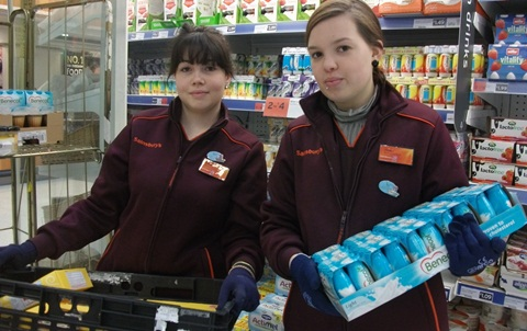 Nantwich Sainsbury's says farewell to French workers