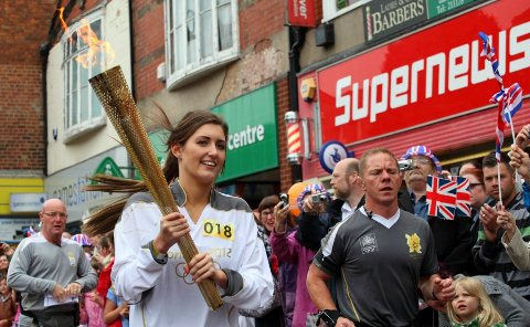 Story in pictures – our Olympic Torchbearers in Crewe
