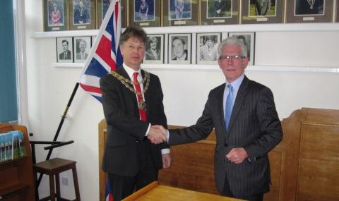 New Nantwich Mayor Cllr Graham Fenton sworn in