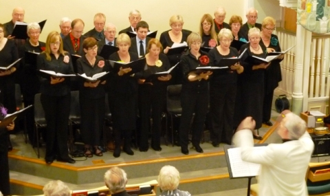 Wistaston Singers wow the audience at Ludlow concert