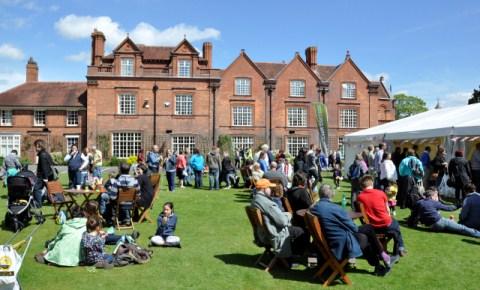 Reaseheath college- visitors enjoy the festival sunshine