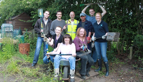 Wulvern Housing staff transform Derby Docks community plot