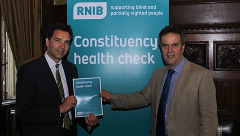 Crewe & Nantwich MP Timpson backs RNIB's SOS campaign