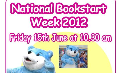 Nantwich Library welcomes National Bookstart Week Bear to town