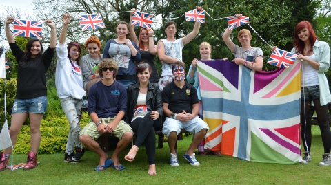 Reaseheath College students celebrate Queen's Diamond Jubilee