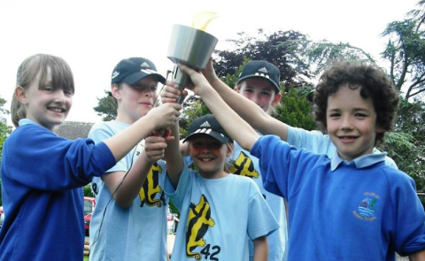 Nantwich primary schools enjoy their own Olympic Torch Relay