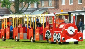 Willaston Jubilee and Rose Queen Fete - land train