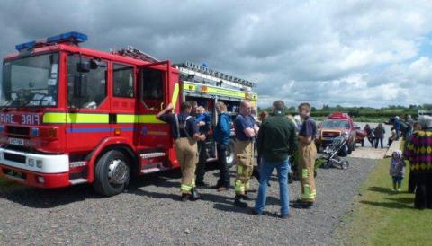 Fire crews stage Safety Afloat day at Overwater Marina, Nantwich