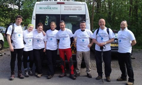 College teams in Nantwich complete gruelling charity challenges
