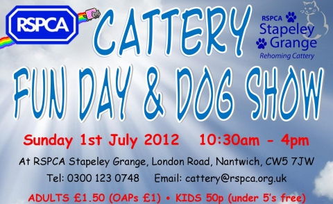 stapeley grange cattery open day poster