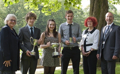 College students in Nantwich celebrate record success