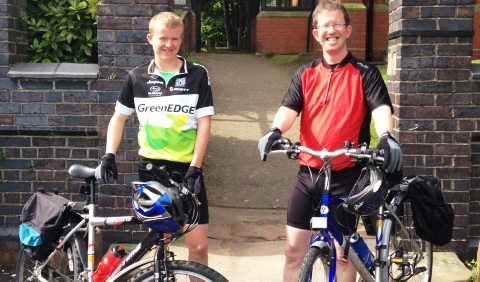 Wistaston dad and son complete 190-mile Pennine ride