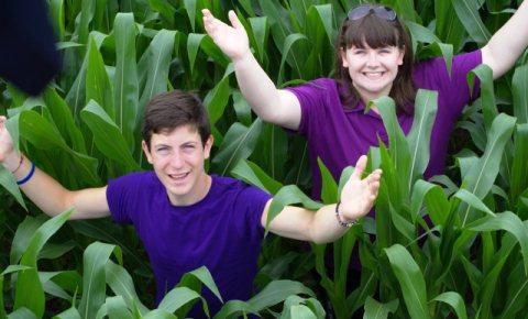 Families enjoy Reaseheath's Maize Maze at Nantwich college