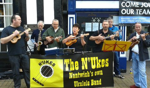Britain's ukulele fans flock to Nantwich to raise almost £4,000