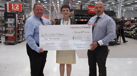 Sainsbury's Nantwich raises £6,000 for St Luke's Cheshire Hospice