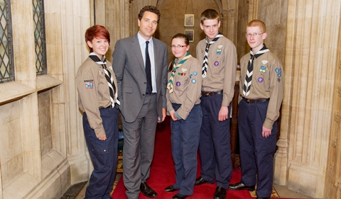 Crewe & Nantwich Scouts speak out at House of Commons