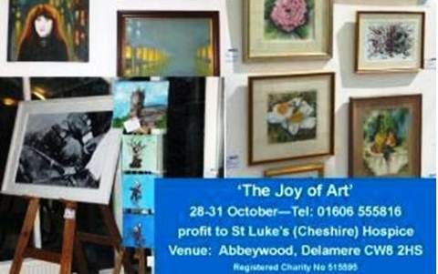 "Nantwich artists urged to join ""Joy of Art"" event for St Luke's Hospice"