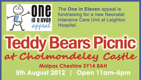 Teddy Bear's Picnic at Cholmondeley for One in Eleven appeal