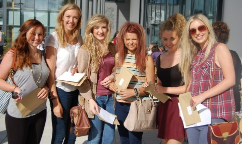 Picture special… Brine Leas students celebrate A level results