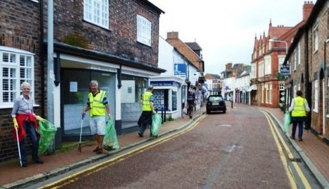 Nantwich Litter Group sweeps streets clean for Bloom judges