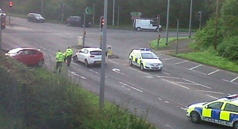 Police close busy Nantwich road after two-car accident