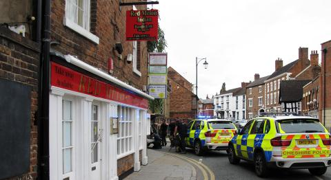 armed police, welsh row incident