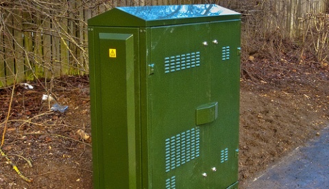 superfast broadband telecoms box (pic by Mike Cattell)