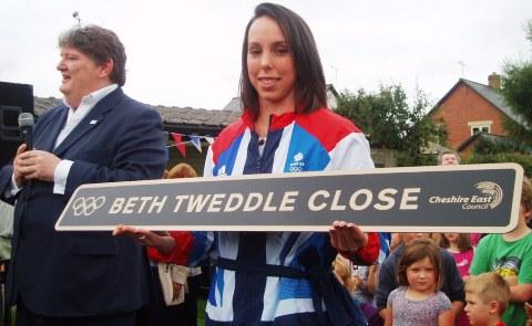 Bunbury village welcomes home Olympic hero Beth Tweddle