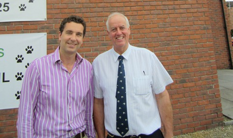 Edward Timpson and Colin Baxter at Nantwich Veterinary Hospital