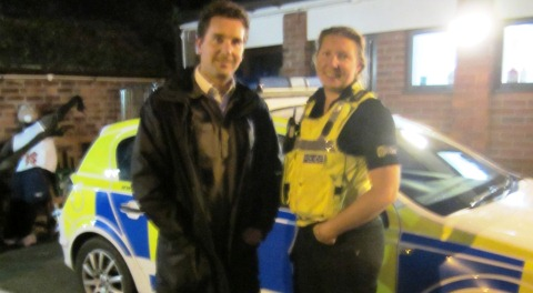 Nantwich MP Timpson hits night-time streets with town police
