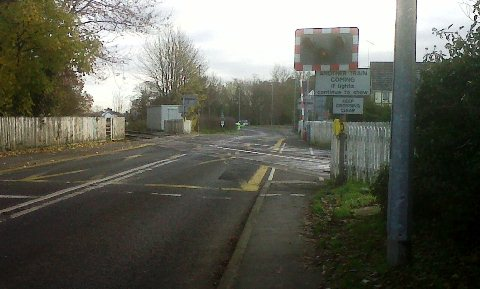 school bus route axed - walking route to Malbank through London Road level crossing in Nantwich
