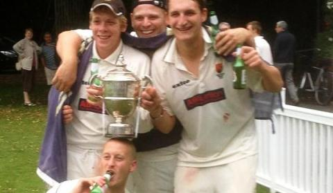 Nantwich CC 1sts celebrate stunning hat-trick of Premier League titles