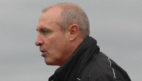 Nantwich Town manager Jimmy Quinn (pic by Simon J Newbury)