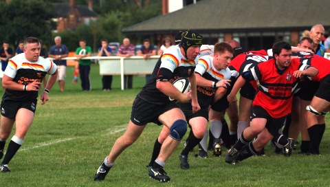 Niall McGregor, captain of Crewe & Nantwich RUFC, who beat Whitchurch