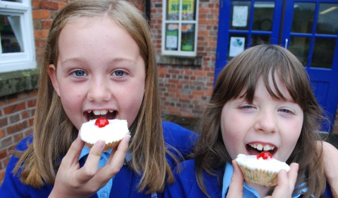 Nantwich school's cakes and cuppas raise Macmillan Cancer Support funds