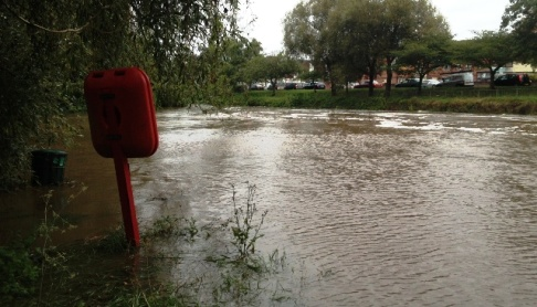 FLOOD PICTURES: River Weaver bursts banks in Nantwich