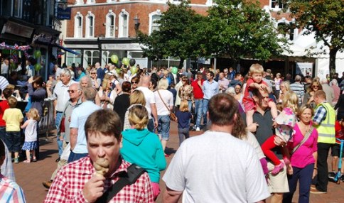 Nantwich Food and Drink Festival crowds, 2012