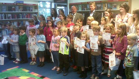 """Nantwich Library rewards youngsters in """"Reading Challenge"""""""