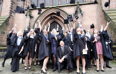 Reaseheath College students graduate in Nantwich town centre