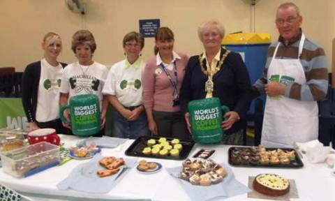 Leighton Hospital teams raise £3,700 for Macmillan Cancer