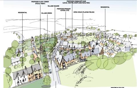 Nantwich South artist impression, Muller