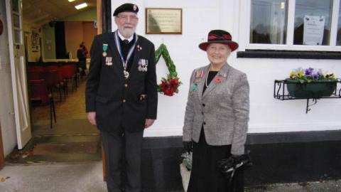 Alan Brereton (Royal British Legion) and Barbara Brereton