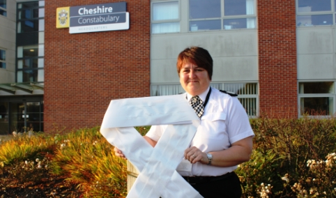 Nantwich Police support White Ribbon Campaign's awareness day