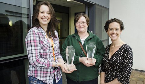 Kirsty MacDonald (Wisemans), Kelly Dearn (Dairy Crest) and Liz Pattison NSA Head of Skills solutions