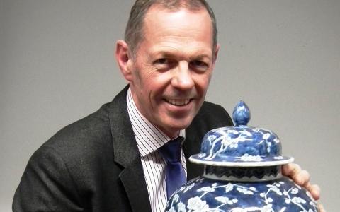 Robert Stones with Chinese vase