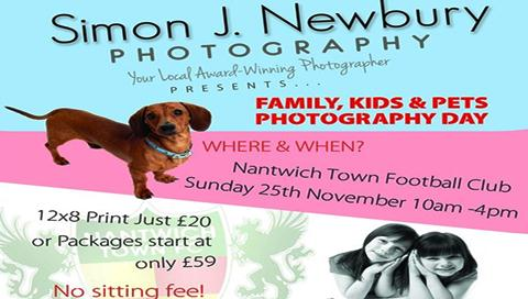 Nantwich Town photographer to stage family and pets day