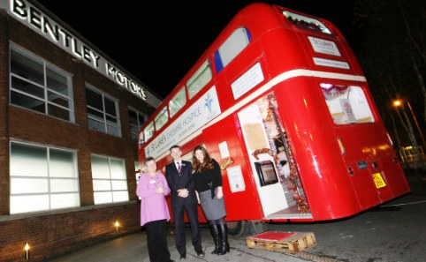 Santa's London bus Grotto to visit Nantwich health centre