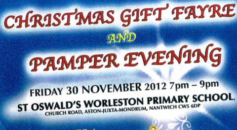 Worleston school to stage pamper evening and Christmas fayre