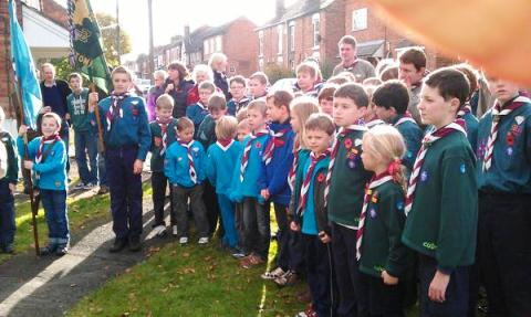 Willaston Remembrance Service, Mike Heywood Green