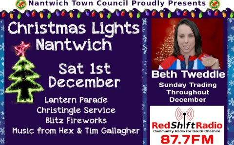 Olympic star Beth Tweddle to switch on Nantwich Christmas Lights